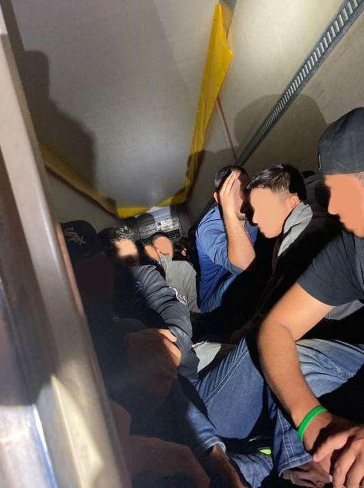 U.S. Border Patrol agents said they found 72 migrants inside a locked trailer.