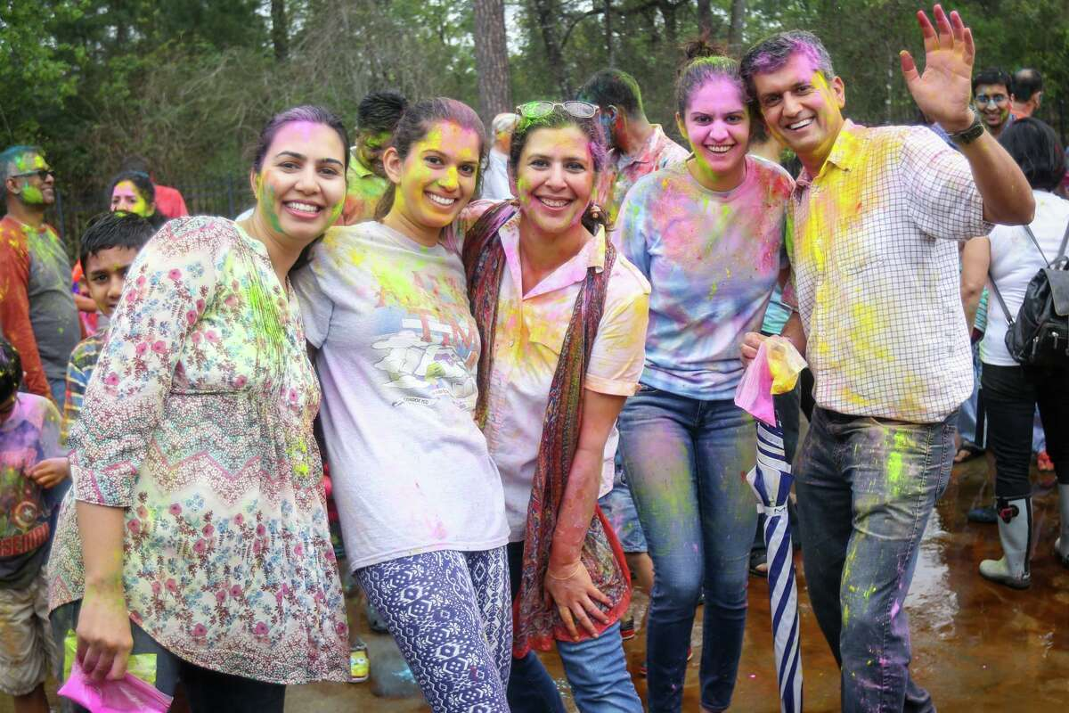 Plans to expand The Hindu Temple of The Woodlands that have been in the works for more than three years are moving forward. The Woodlands Township Development Standards Committee on Wednesday, June 16, approved the next series of proposed plans for the expansion. Here, Holi festival attendees pose for photos on Saturday, March 11, 2017, at the temple.