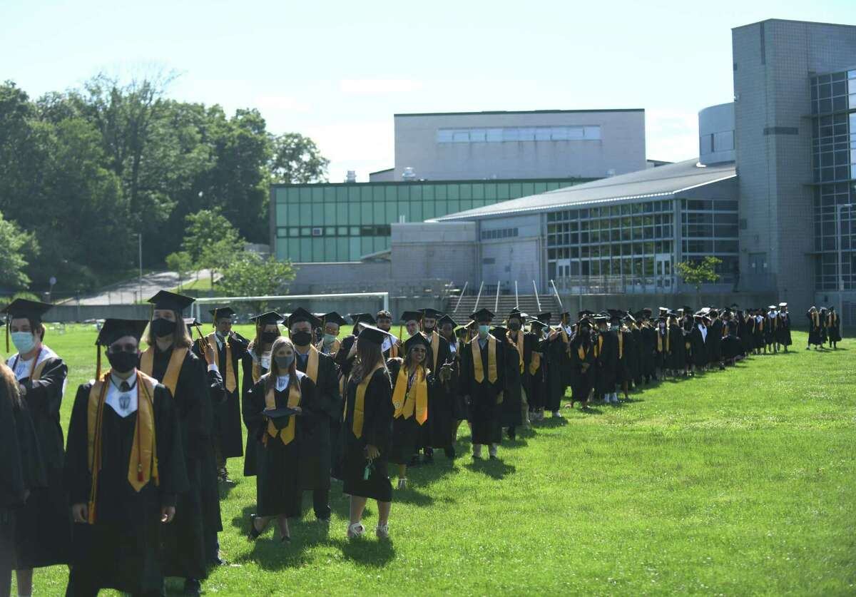 Photos from the Academy of Information Technology & Engineering (AITE) 2020-2021 commencement ceremony at the AITE campus in Stamford, Conn. Wednesday, June 16, 2021.