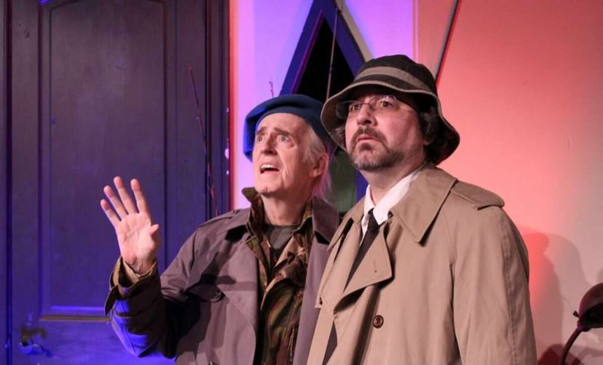 """Jon Kiser, left, and Shawn Havranek as Froggy and Charlie in The Players Theatre Company's """"The Foreigner"""" opening June 25 at the Owen Theatre."""