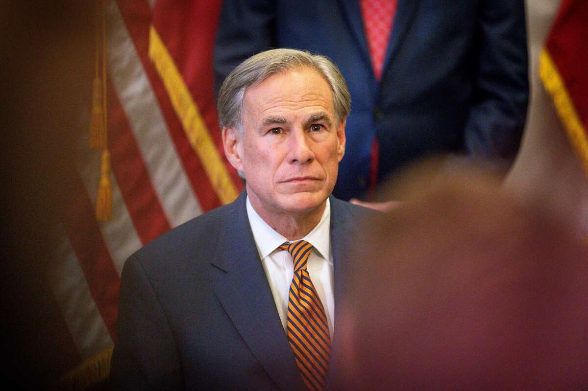 Texas Gov. Greg Abbott speaks during a press conference where he signed Senate Bills 2 and 3 at the Capitol on June 8, 2021 in Austin, Texas.