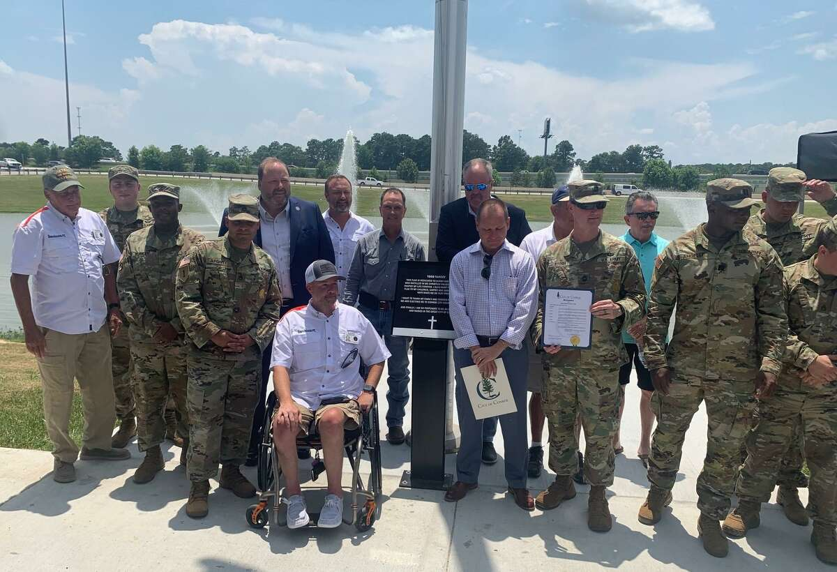 On Monday, Mayor Jody Czajkoski and members of the Conroe City Council, the local Army unit and members of the Montgomery County Veteran's Memorial Commission celebrated the birthday of the U.S. Army at the newly dedicated Veteran's Memorial Park in Conroe.