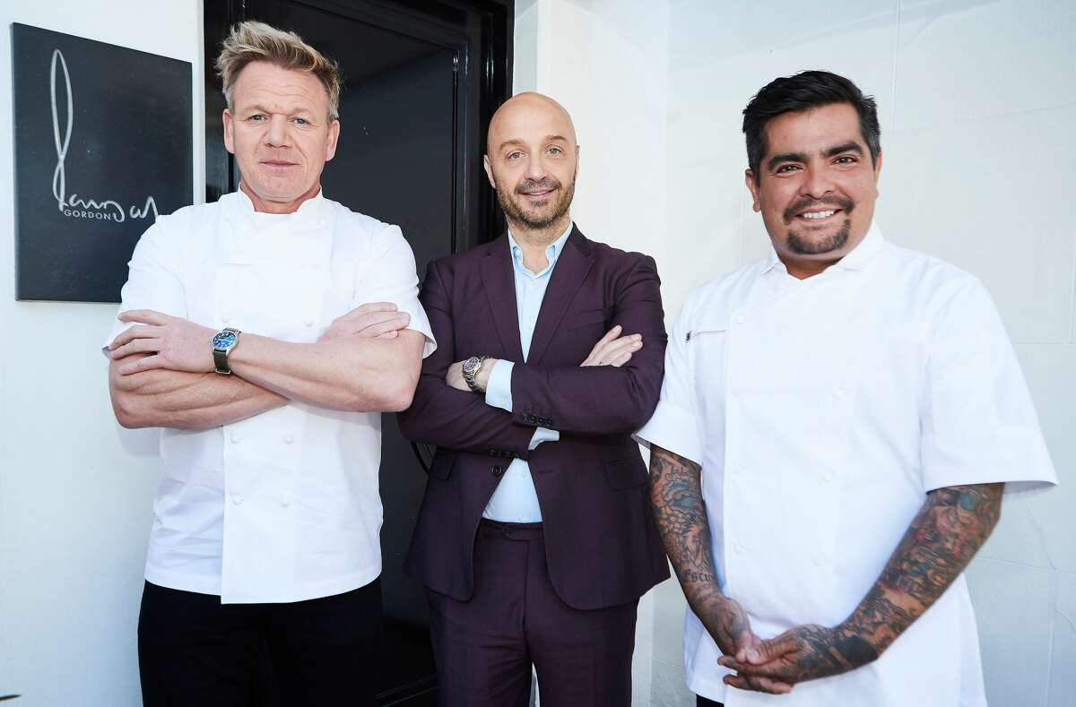 Host / chef Gordon Ramsay with judges Joe Bastianich and Aaron Sanchez in the London Calling Pt. 1 episode of MasterChef season 10. The 11th season of the show premiered June 2.(Photo by FOX via Getty Images)