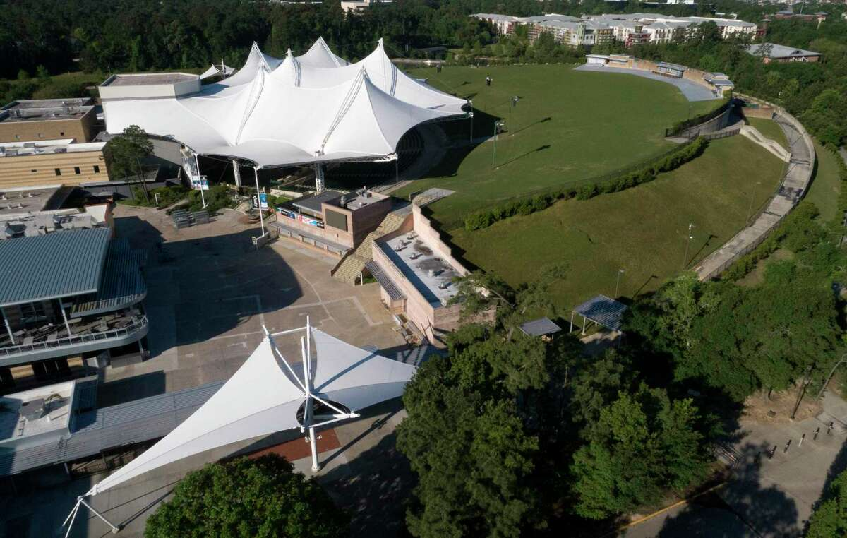 The Cynthia Woods Mitchell Pavilion is seen, Thursday, April 16, 2020, in The Woodlands.