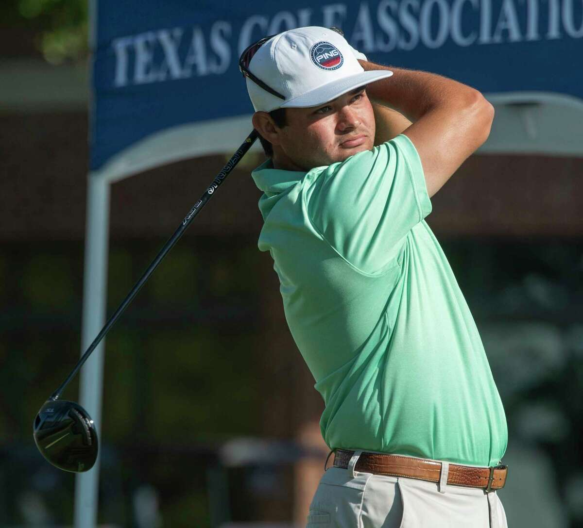 JT Pittman follows his tee shot during the 112th Texas Amateur 06/17/2021 at Midland Country Club. Tim Fischer/Reporter-Telegram