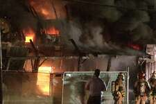 Firefighters worked in defensive mode where they fought the flames from outside the building.