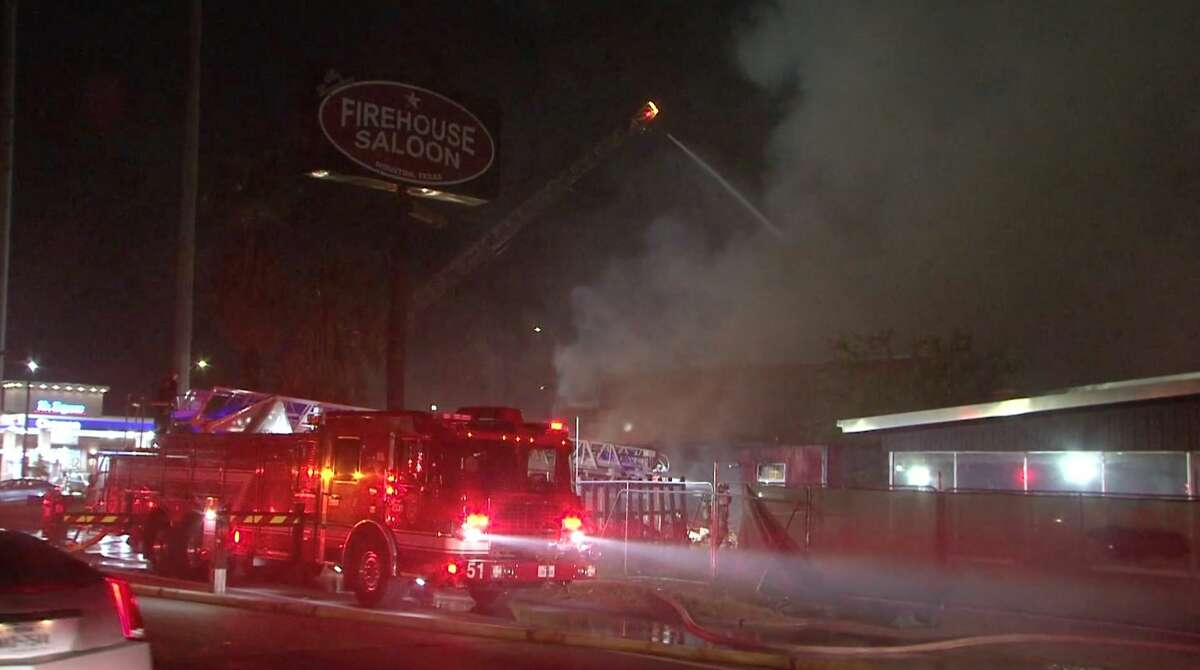 Once a legendary honky-tonk, the shuttered Firehouse Saloon caught fire early Thursday morning.