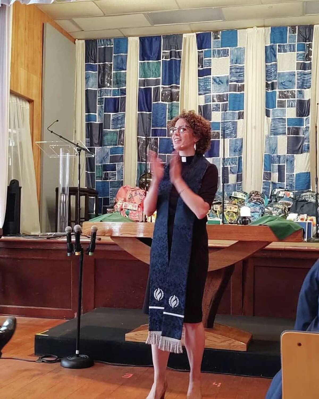 Congregants return to Metropolitan Community Church of Greater St. Louis on June 13.
