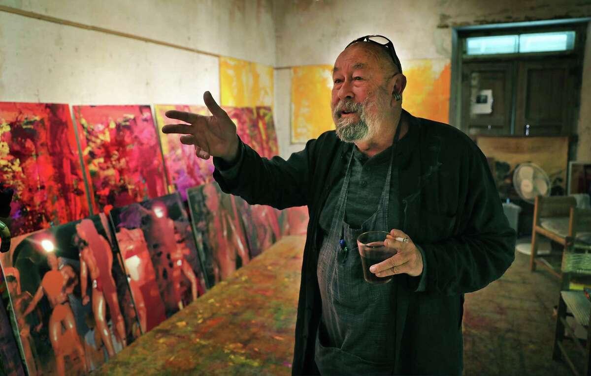 Michael Tracy in one of his studios in San Ygnacio in 2019.