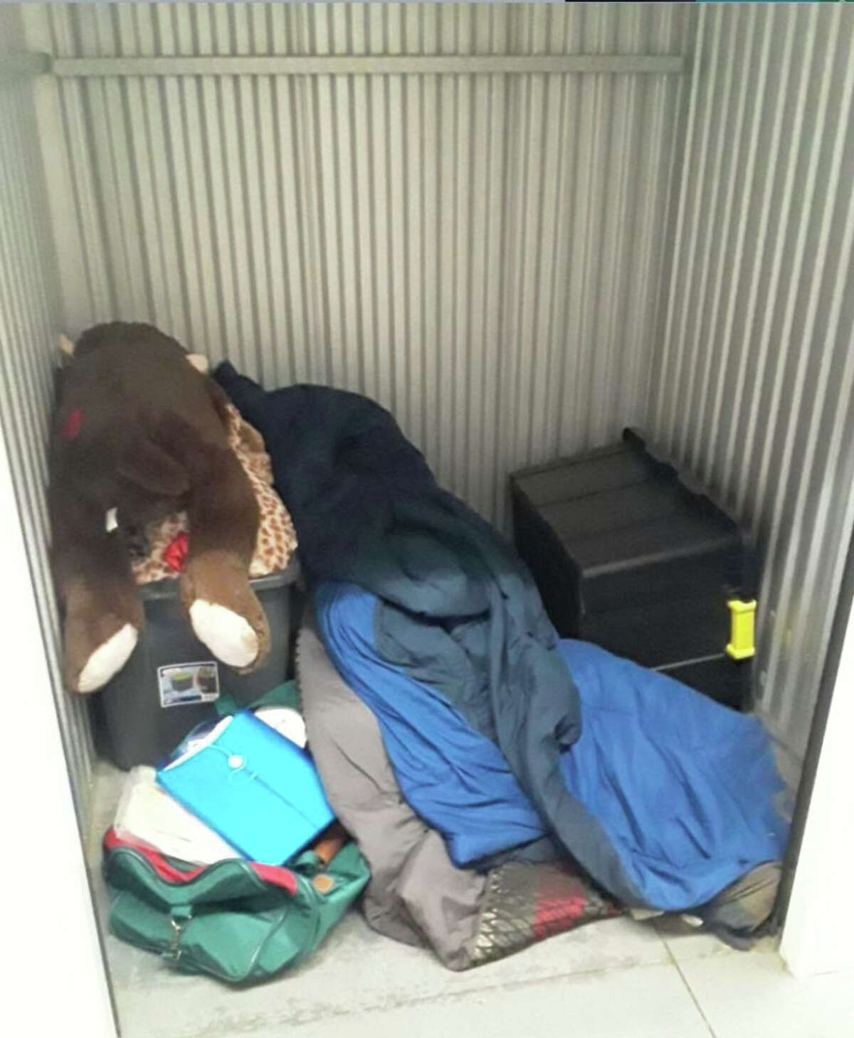 One of the repossessed storage units that Shane Jones won at an auction.