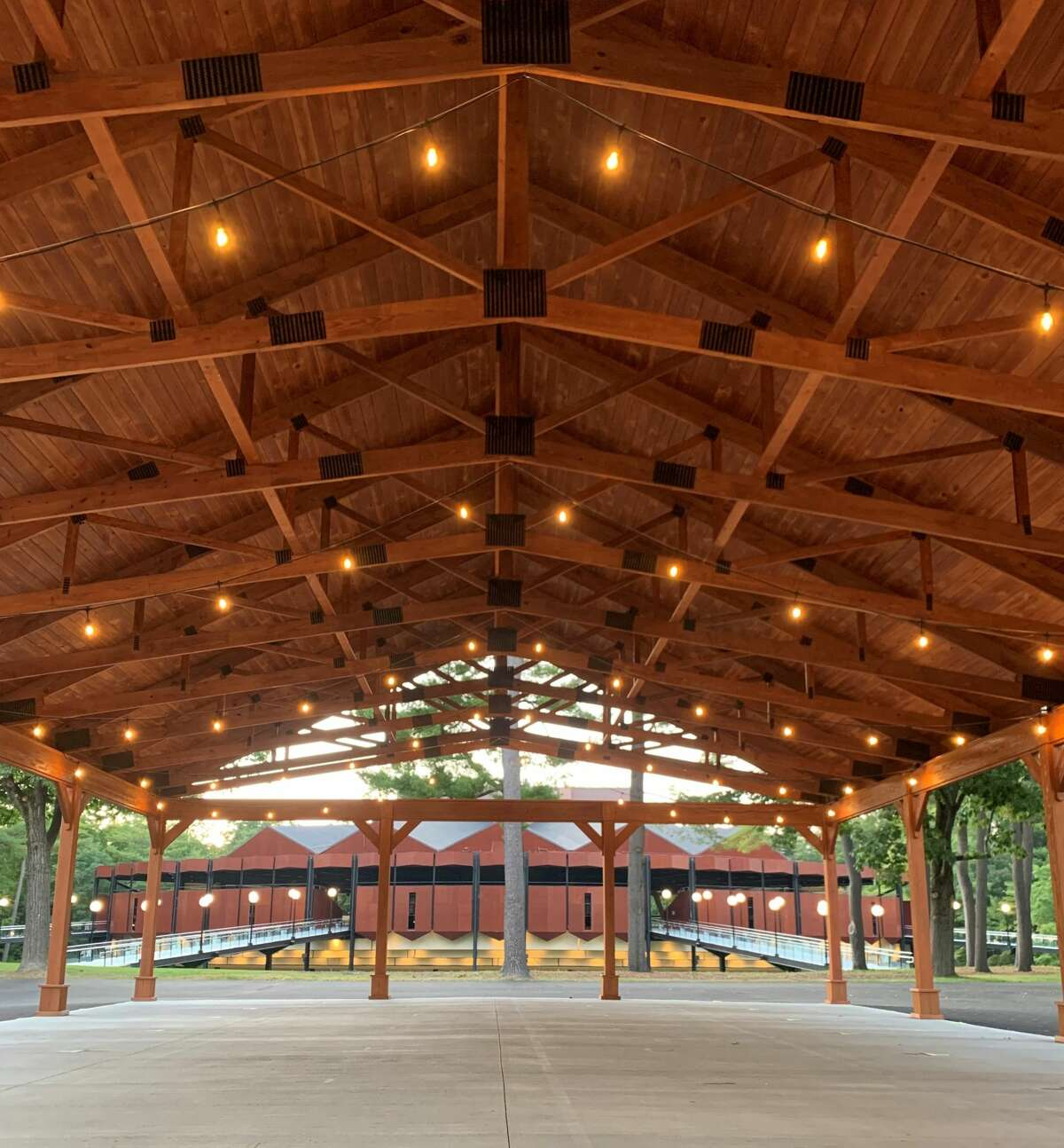 The new Julie Bonacio Family Pavilion is part of The Pines@SPAC, a large capital project that added new buildings and improved existing structures to the upper lawn at the Saratoga Performing Arts Center. (Provided photo.)
