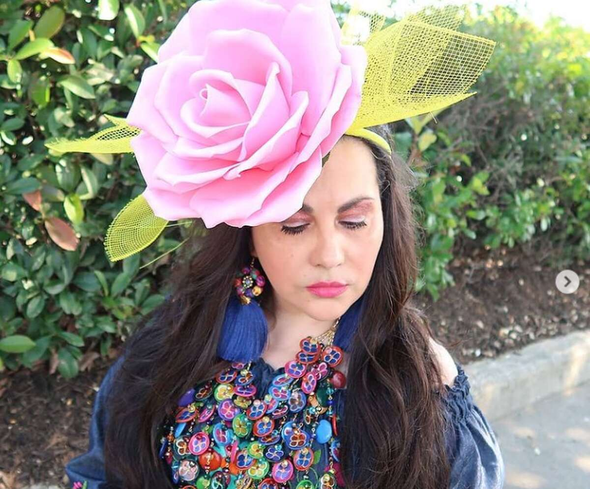 Gina Jaramillo, who owns Happy Chick Beauty Designs, is selling headpieces that are sure to stand out in the Fiesta crowds. Rather than wearing many smallflowers on your head, Jaramillo's fascinator-style product lets Fiesta fans shuffle through the party with an oversized rose attached to their head.