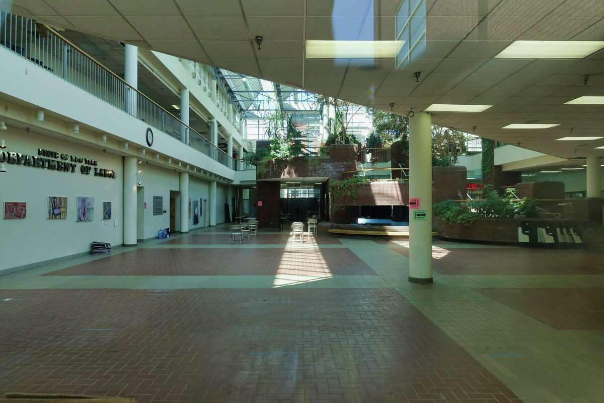 A view of the Troy Atrium on Thursday, June 17, 2021, in Troy, N.Y. (Paul Buckowski/Times Union)