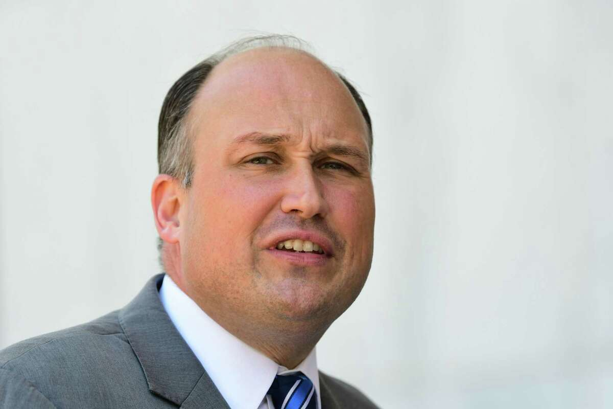 New York Republican Chairman Nick Langworthy was reelected chairman of the party on Monday.(Lori Van Buren/Times Union)