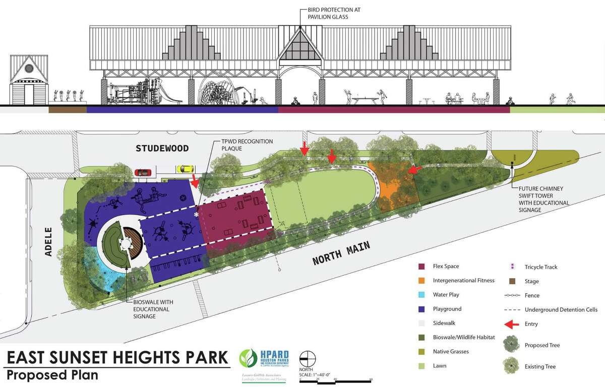The proposed plan for the East Sunset Heights Park