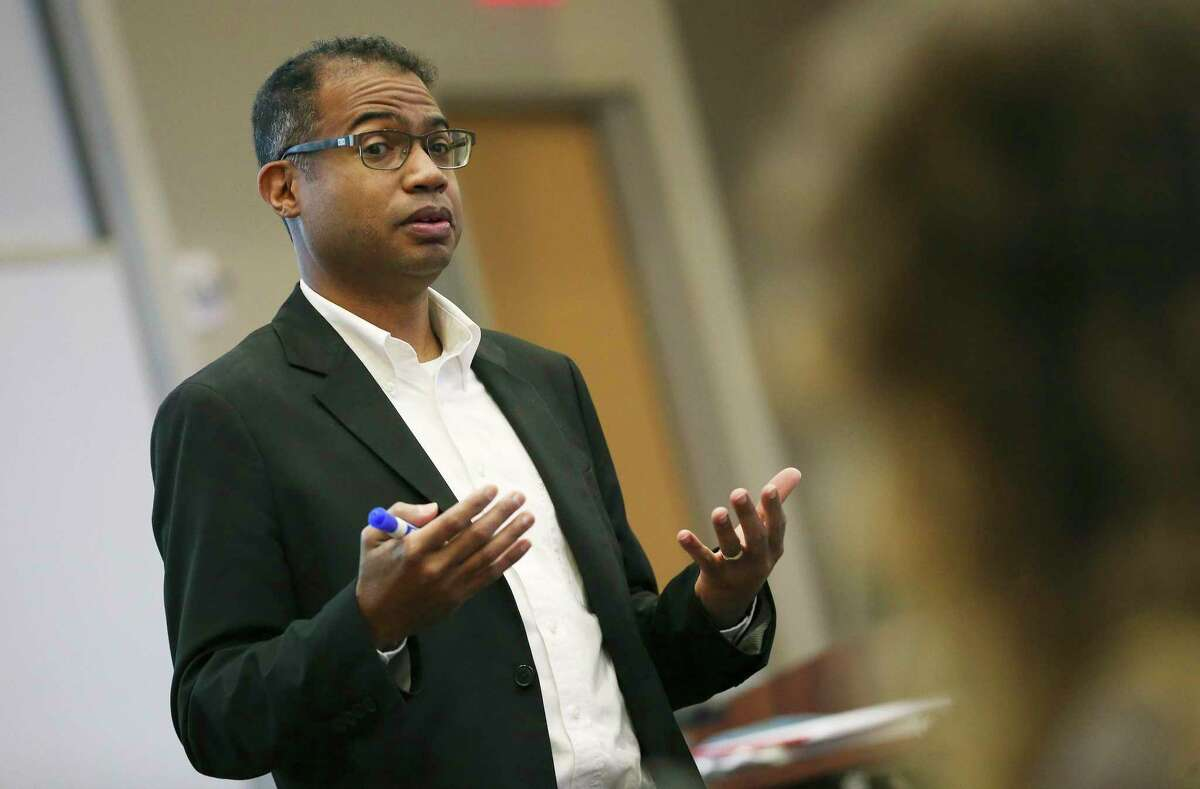 Trinity University history professor Carey Latimore will participate in a panel discussion Friday night at the Alamo.