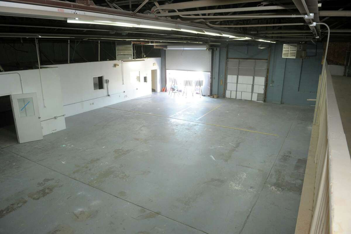 Interior view of the former warehouse space that will soon be converted into nOURish BRIDGEPORT's new indoor vertical hydroponic farm.