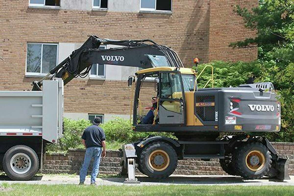 Initial efforts to demolish Vandercook Hall began in May. Ferris State University will build the $29.5 million Center for Virtual Learning at that location, in the central campus. (Courtesy photo/John Smith)