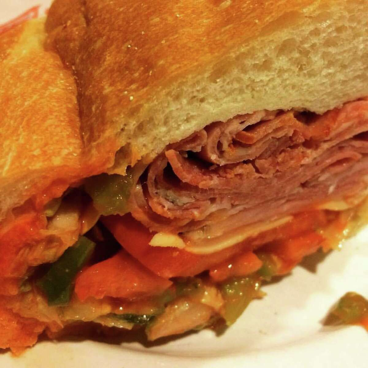 A sandwich from Nardelli's Grinder Shoppe.