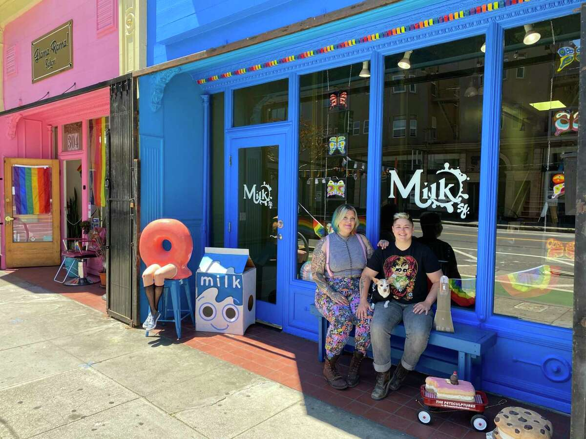 """For Katey McKee, San Francisco's new law to streamline the permitting process for business owners was """"magical."""" She got her permits to open a cafe in the Mission within 30 days as voter-approved ballot measure Proposition H promised. McKee, left, and Sharon Ratton are co-owners of Milk."""