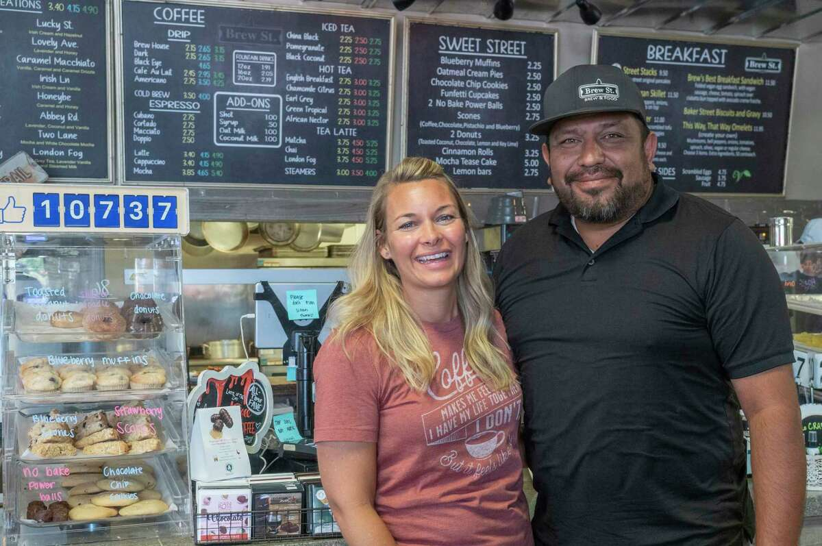 Marcy and Carlos Madrid, new owners of Brew St. 06/17/2021. Tim Fischer/Reporter-Telegram