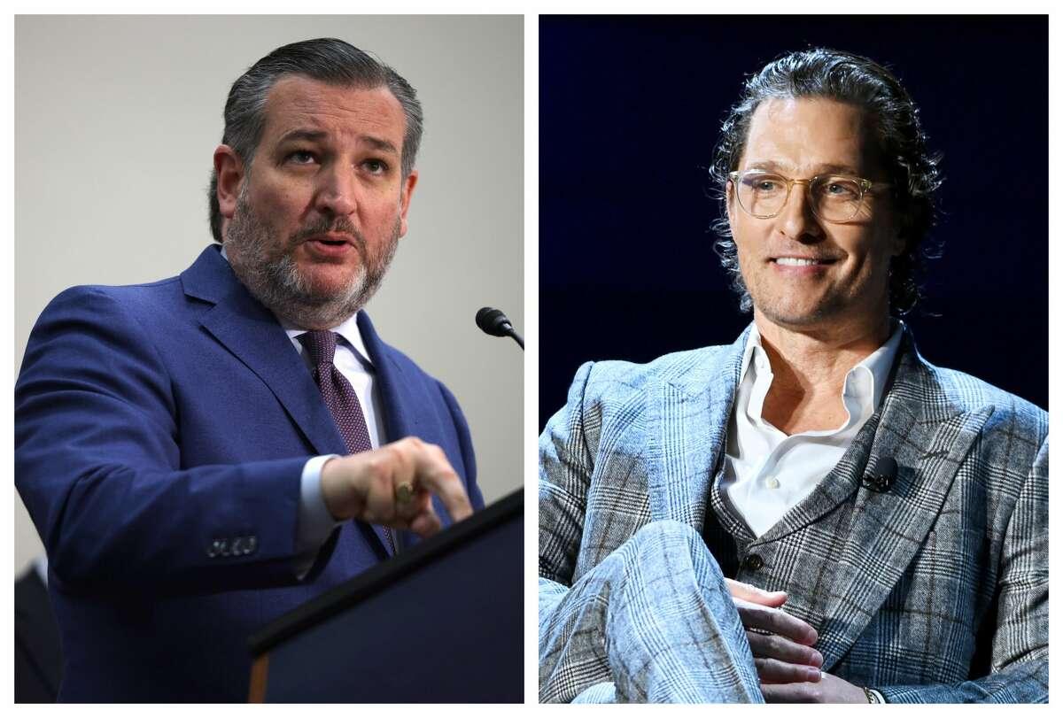Sen. Ted Cruz talked a possible Matthew McConaughey gubernatorial run on Thursday.