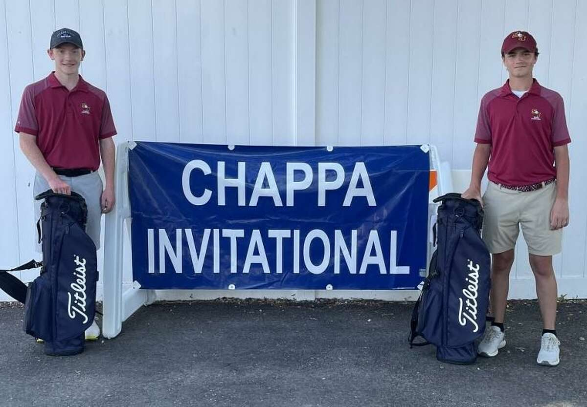 St. Joseph's Colin Firda and Andrew Flynn combined to shoot 8-under-par best ball score of 61 to win the Chappa Invitational at Longshore Golf Course (par 69). St. Joseph won by three strokes over host Staples (64).