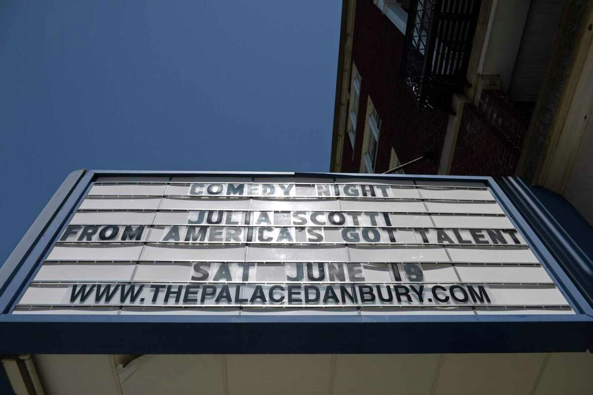 The Palace Danbury theatre will be reopen on Saturday for the first time since March 2020. It is undergoing a minor restoration. Thursday, June 17, 2021, in Danbury, Conn.