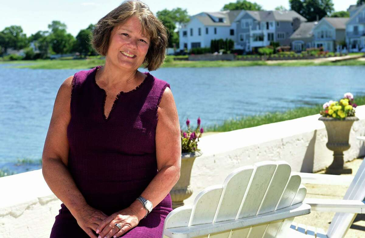 Lisa Brinton, a former mayoral candidate near her home at Shorefront Park Thursday, June 17, 2021, in Norwalk, Conn. Brinton is now spearheading the return of the independent party to norwalk and it running for common council at large.