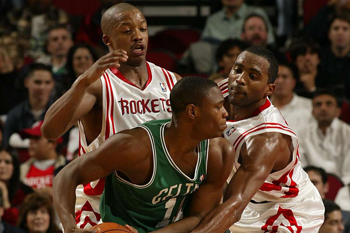 Journeyman Marcus Banks, seen here with the Celtics, was taken by Memphis with the Rockets' pick in the 2003 NBA draft. He was traded to Boston after the Grizzlies drafted him. The Rockets sent the pick to the Grizzlies to complete the Steve Francis trade.