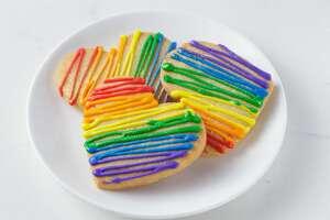 Try these Pride shortbread cookies between June 18 and 28.