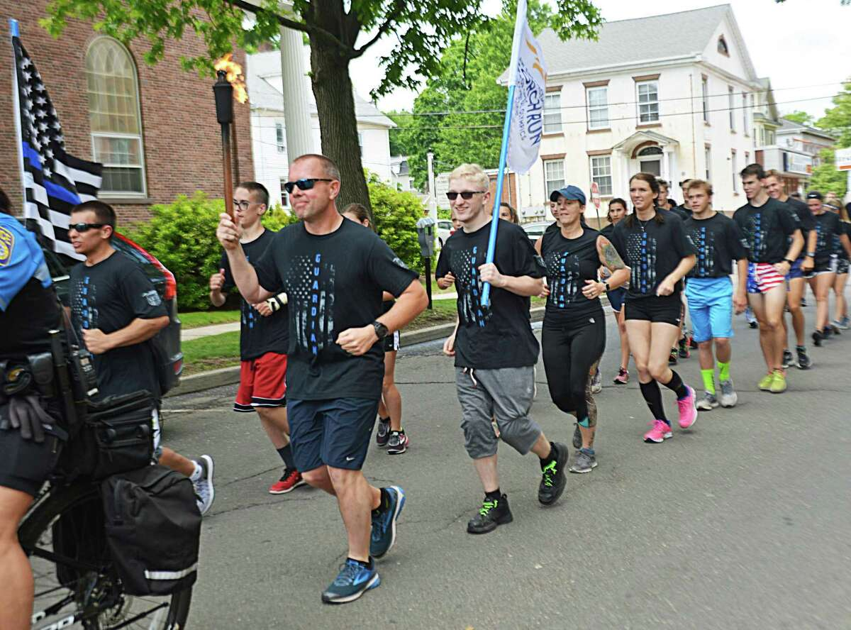 More officers and civilians than ever took part in leg three of the three-day annual Law Enforcement Torch Run for Special Olympics Connecticut in 2018.