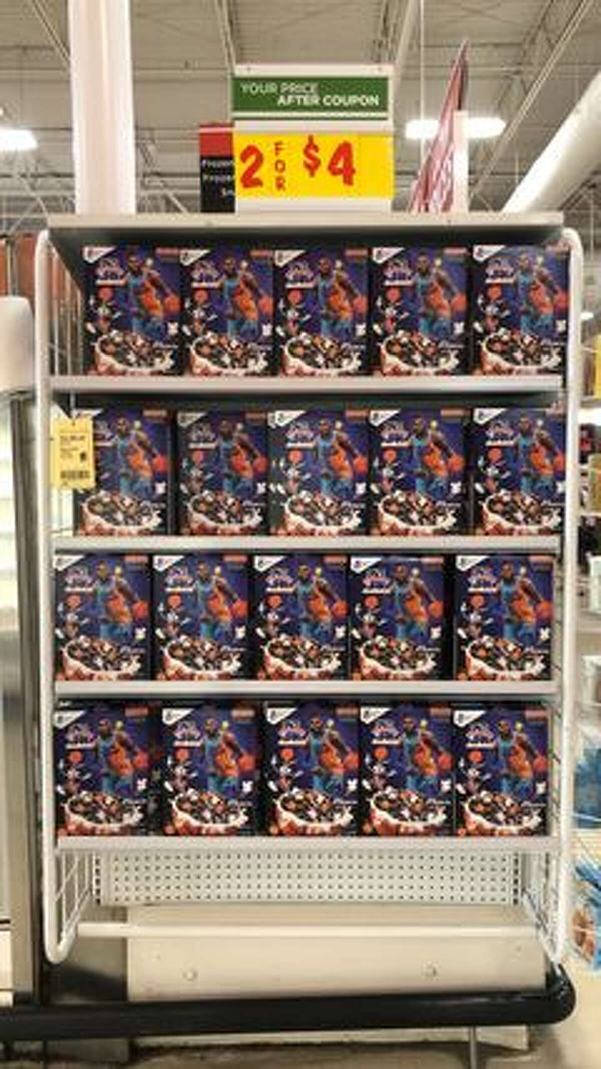 """The limited-edition """"Space Jam: A New Legacy"""" cereal box from national brand General Mills is now on sale at H-E-B stores across Texas, the grocery chain confirmed to MySA."""