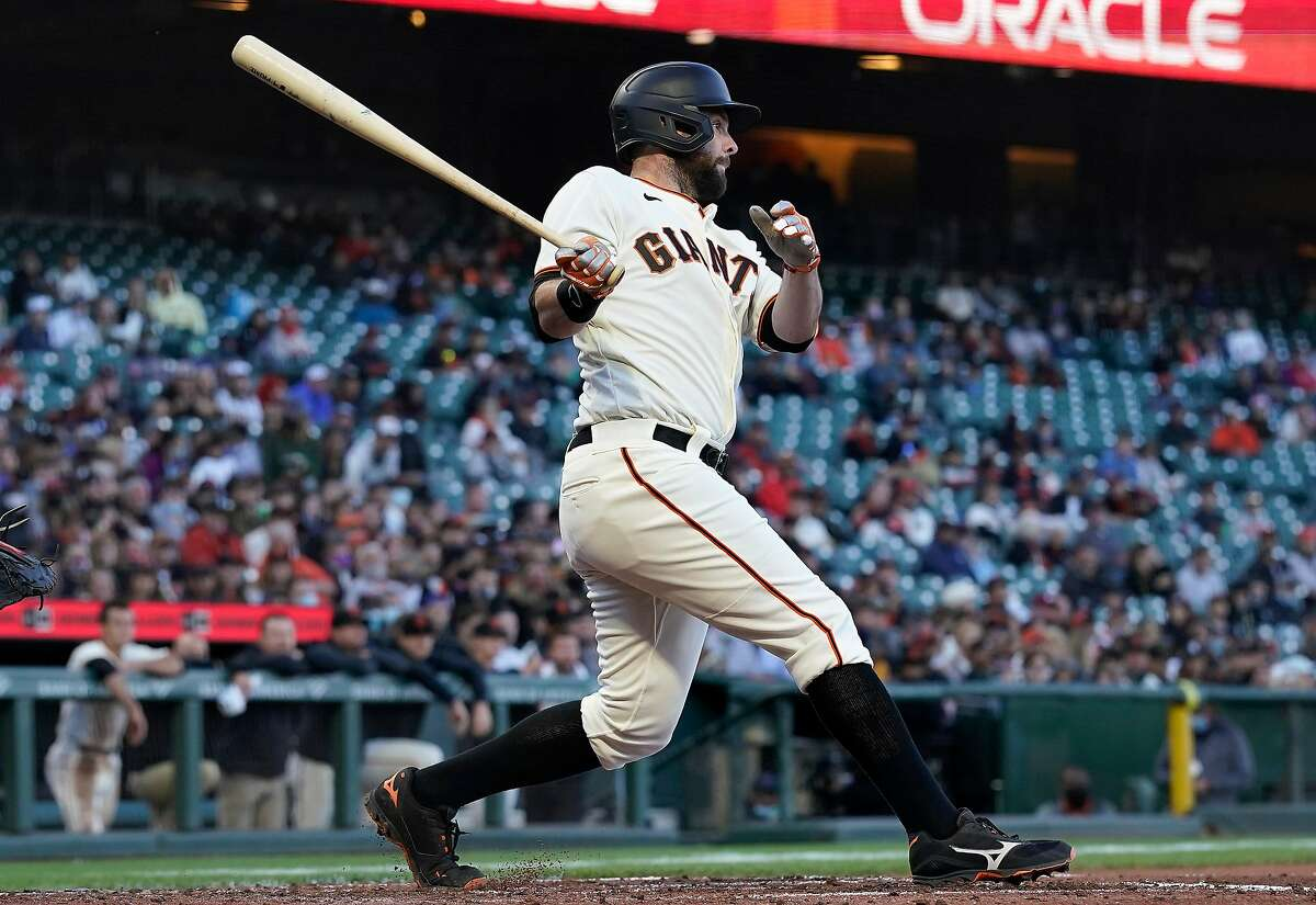 Brandon Belt and the Giants open a three-game series with the Phillies at Oracle Park at 6:45 p.m. Friday (Peacock streaming service/104.5, 680).