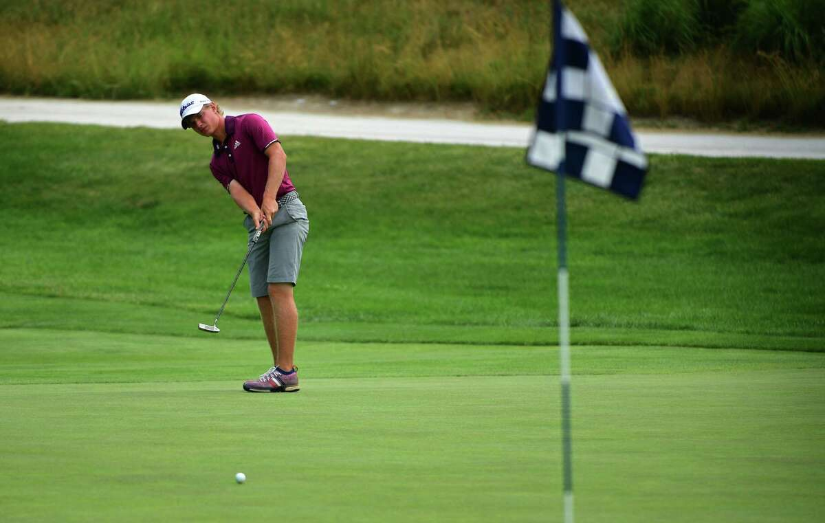 Chris Fosdick, seen here at the 2020 State Amateur, advanced on Thursday to this year's final.