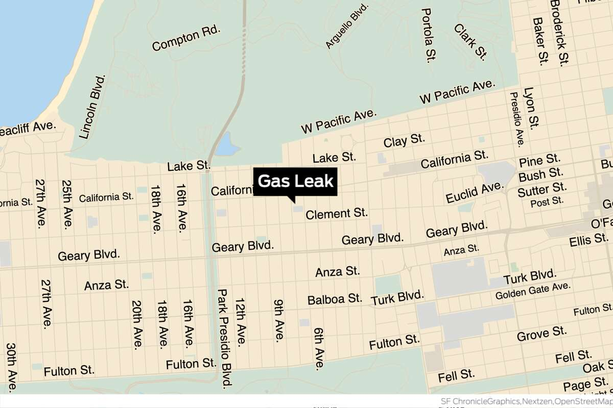 A gas leak on Clement Street led to evacuations and one injury Thursday afternoon, according to the San Francisco Fire Department.
