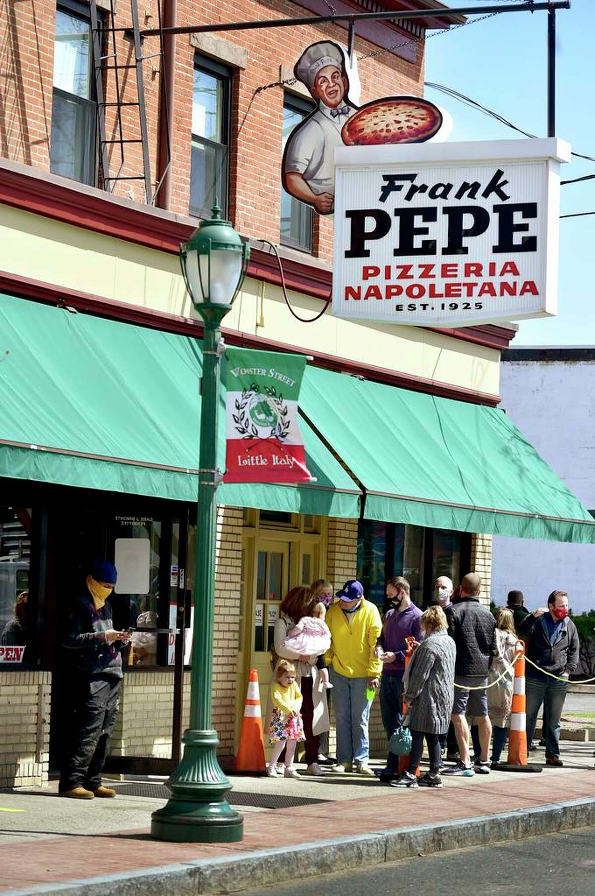 New Haven Frank Pepe Pizzeria Napoletana on Wooster Street in New Haven.