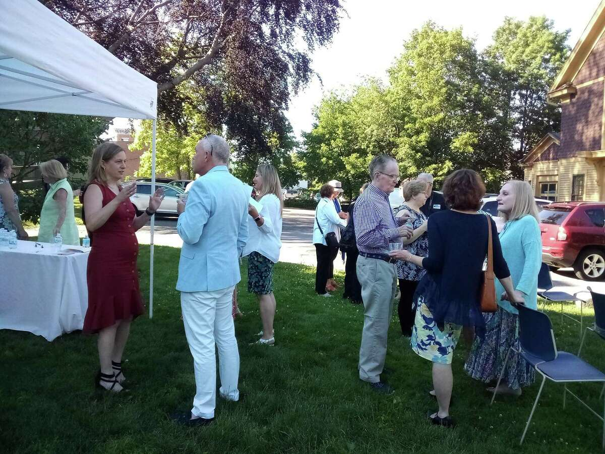 The United Way of Northwest Connecticut's Women's Leadership Committee honored recipients of their annual awards Thursday night in the gardens of the Torrington Historical Society.