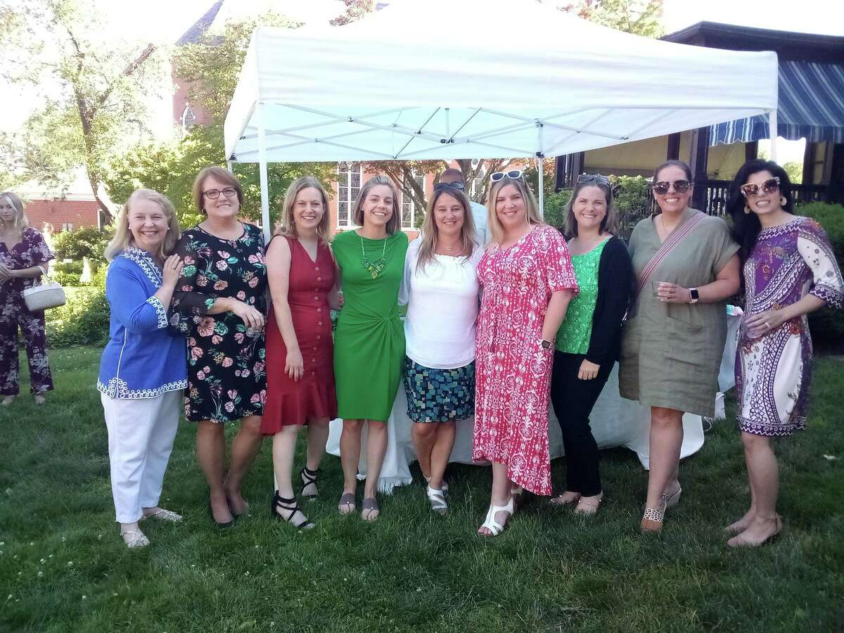 The United Way of Northwest Connecticut's Women's Leadership Committee, pcitured, honored recipients of their annual awards Thursday night in the gardens of the Torrington Historical Society.