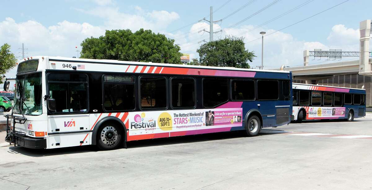 The Fiesta Park & Ride program will run from 5-11 p.m. from Tuesday through June 25 from two sites, including VIA's Crossroads Park & Ride, shown here in this 2013 photo. Fiesta-goers will be dropped off downtown.