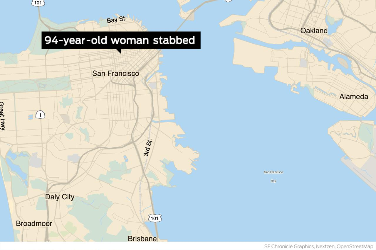 S.F. prosecutors charge man with attempted murder in stabbing of 94-year-old woman