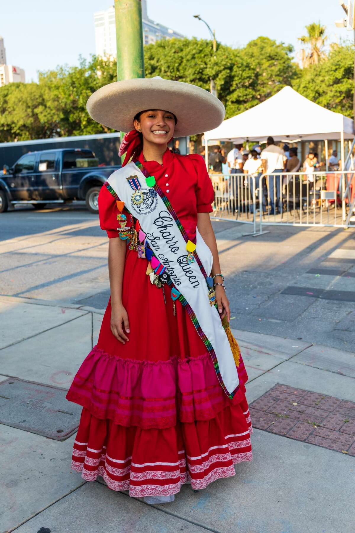 San Antonians came out to ¡viva Fiesta baby! at the annual Hemisfair kick-off event, Fiesta Fiesta on Thursday, June 17, 2021.