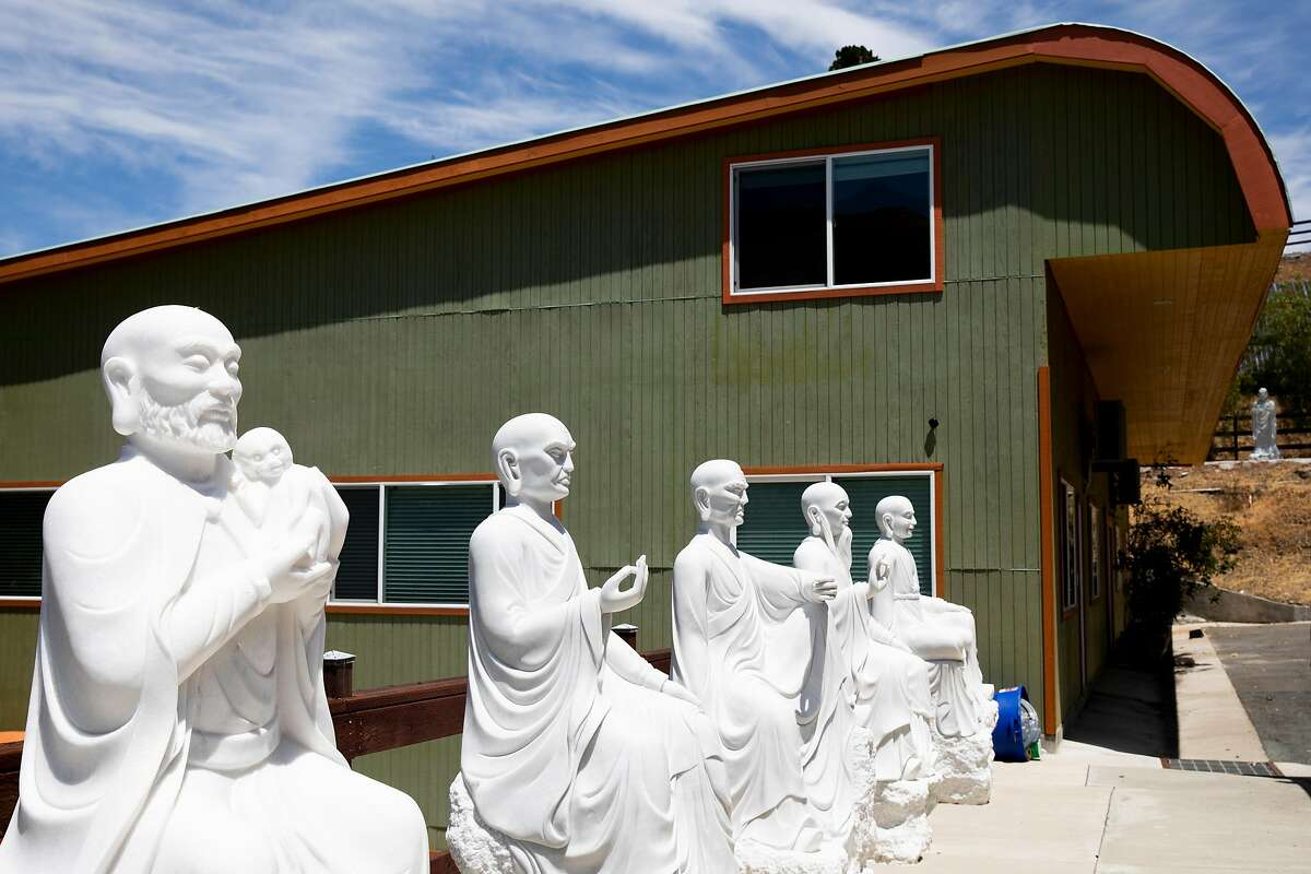 The exterior of the temple room at the Temple of 1001 Buddhas in Fremont.