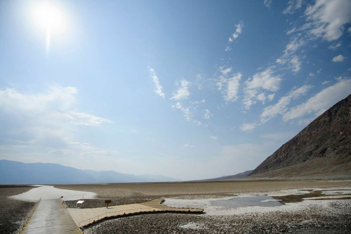 FILE - The salt flats at Badwater Basin are seen inside Death Valley National Park on June 17, 2021 in Inyo County, California.