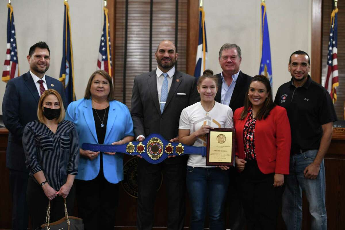 Team USA boxer in Laredo's Jennifer Lozano is recognized for her victory at the 2020 USA Boxing National Championships by Webb County Commissioners.