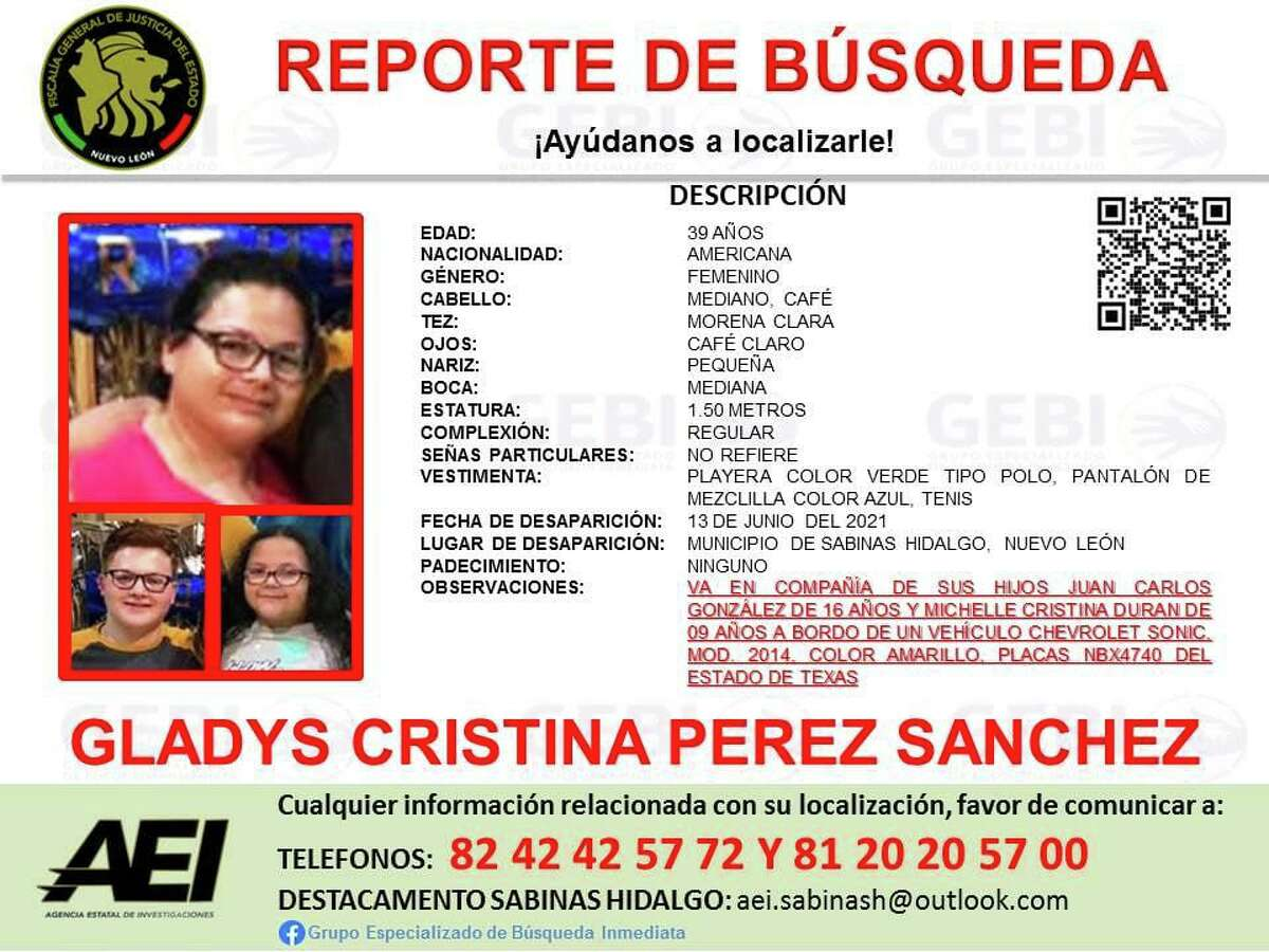 Mexican authorities in Nuevo Leon are asking the community for assistance to locate this Laredo family.