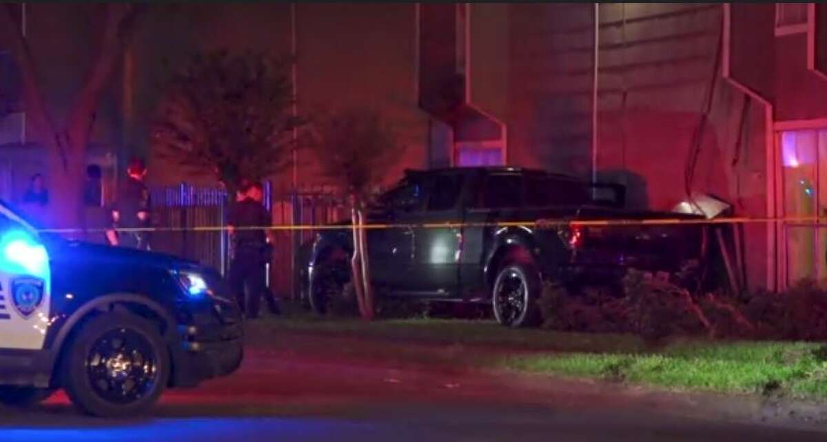 Police investigating a double homicide Thursday night in northwest Houston on Tidwell Road.