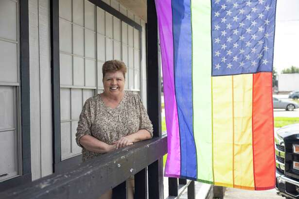 Debbie Steele poses for a portrait inside the Ranch Hill Saloon, Thursday, May 27, 2021, in Spring. Steele has been the owner of the bar since the early 2000's and was the second gay bar to open in Montgomery county. The bar has faced numerous challenges due to homophobia in the area.