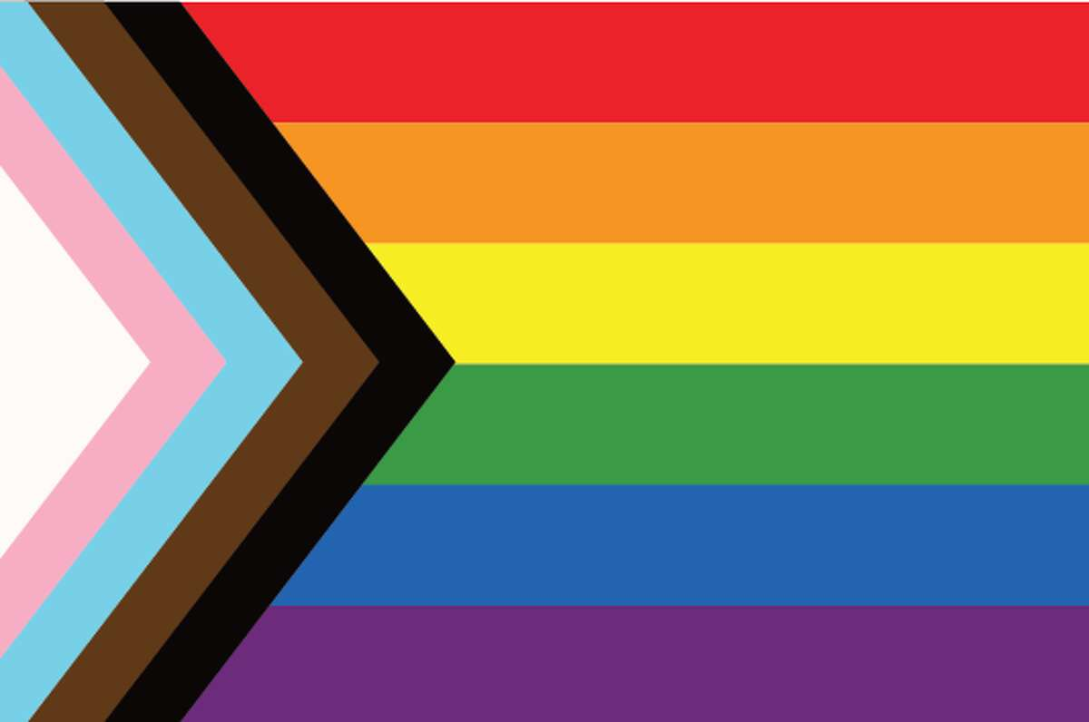 The Progress Flag, this flag is meant to represent the progress of the LGBTQIA+ community and include both the trans community and people of color within the rainbow flag. The flag was designed by Daniel Quasar in 2018.