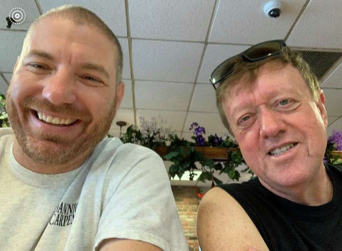 Longtime friends and Ridgefield residents Todd Carpenter, left, and Tom Devlin, patronize local restaurants three times a week. As more people return to restaurants amid the new normal, they are encourgaing other residents to do the same.